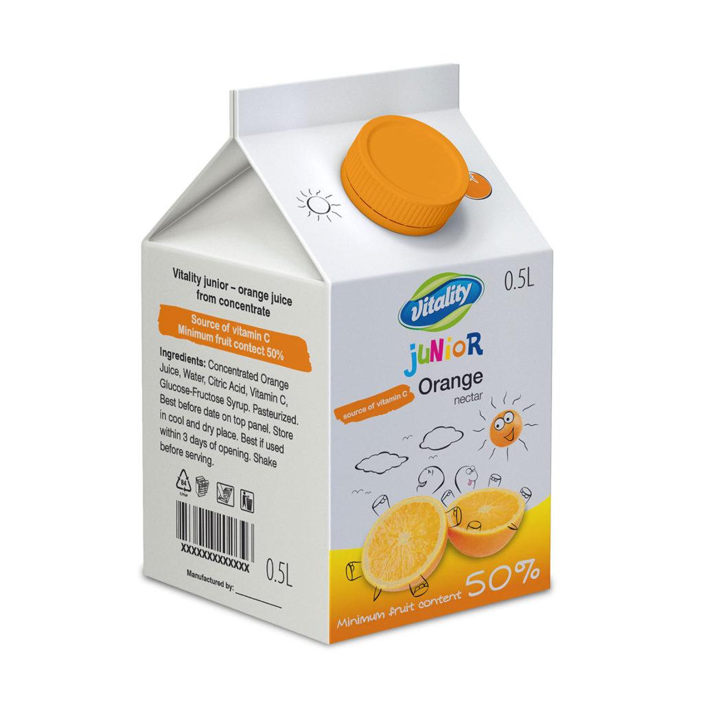 Juice packaging 0.5L - illustration and packaging design